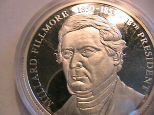 1998-American-Mint-The-US-Presidents-Medals-Millard-Fillmore-1850-53-Cameo-Proof