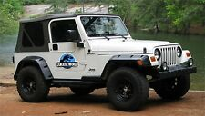 Jurassic World Decal Jeep Magnets - 2 Removal Decals