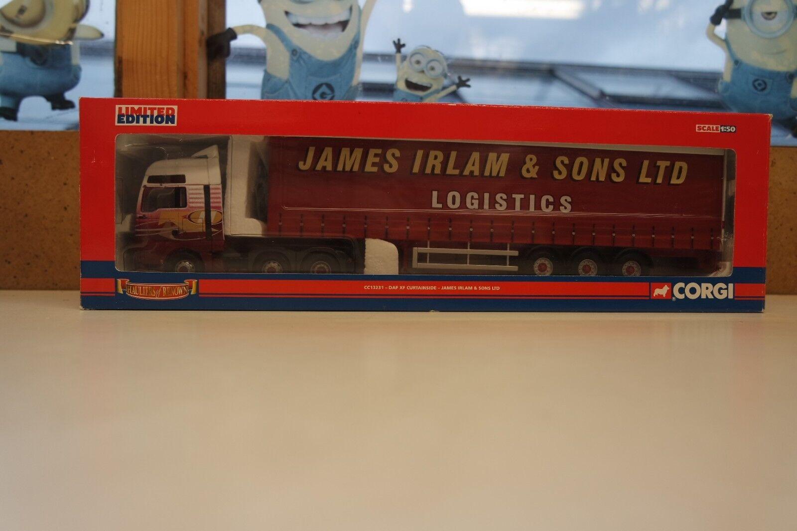 Corgi 1 50 Hanbury Davies MAN TGA XXL & DAF XF Curtainside James Irlam CC13231