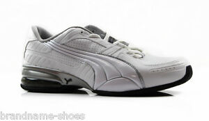 MENS-PUMA-CELL-MINTER-3-CASUAL-SPORT-GYM-ATHLETIC-MEN-039-S-WHITE-SILVER-BLACK-SHOES