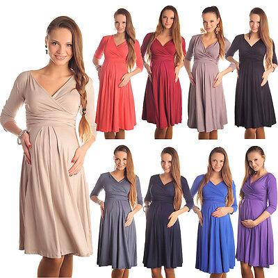 Gorgeous Maternity Dress Vneck Pregnancy Clothing Size 8 10 12 14 16 18 Top 4400