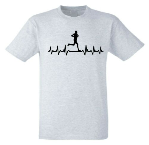 Running t-shirtIt/'s in my Heartbeat Runners T-Shirt Novelty Marathon tee