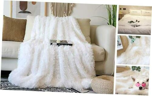 "Decorative Extra Soft Faux Fur Blanket Full Size 70/"" x 78/"",Solid Reversible Fuzz"