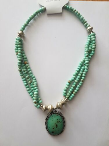 """bead//resin necklace approximately 20/"""" pale green//mix colour"""