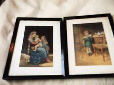 2 X SMALL VINTAGE GEORGE BAXTER COLOUR PRINTS I DONT LIKE IT + MADONNA & CHILD