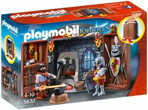 PLAYMOBIL-Knights-5637-Chevalier-et-Forgeron-NEUF