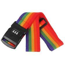 3-Dial Security Lock Colorful Nylon Luggage Strap Belt Baggage Multi Lock