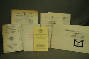 lot-vintage-Masonic-papers-Bulletin-and-Roster-Cornerstone-Ceremony-Piedmont