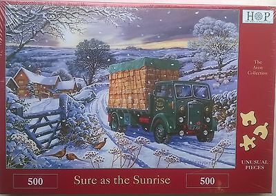 500 PIECE HOUSE OF PUZZLES JIGSAW PUZZLE SURE AS THE SUNRISE ! NEW