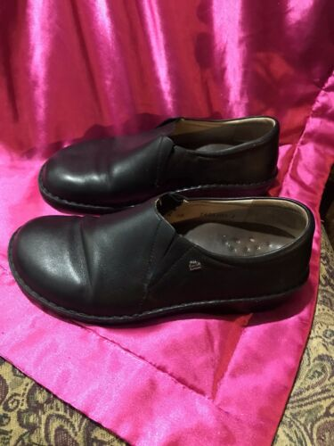 Finn Comfort Shoes Women's Black Leather Loafers E