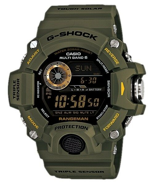 Casio G-Shock Rangeman Digital Mens Green Military Tough Solar Watch GW9400-3