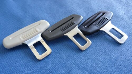 PEUGEOT GREY SEAT BELT ALARM BUCKLE KEY CLIP SAFETY CLASP STOP