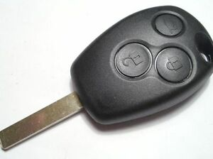 FITS Renault Clio Modus Twingo Master 3 Button Remote Key Fob case and blade