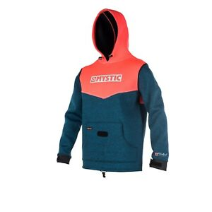 Mystic-Voltage-Sweat-Kite-Surf-Beach-Jacket-windproof-layer-Coral-colour