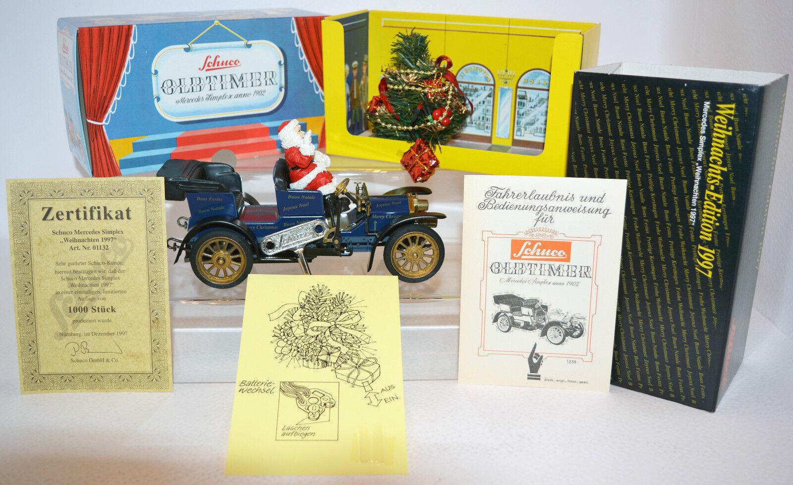 Schuco 01132 Mercedes Simplex Weihnachten 1997 limitiert Rarität Car Zertifikat