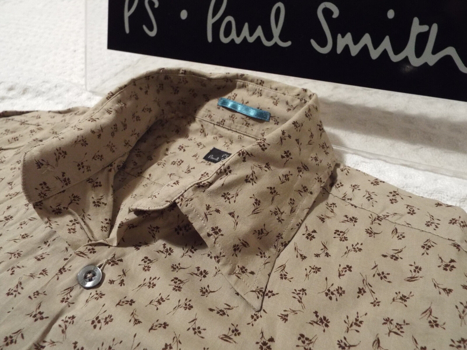 PAUL SMITH Mens Shirt  Größe M (CHEST 40 40 40 )   +  FLORAL LIBERTY STYLE    Neuheit Spielzeug  2bfeb1