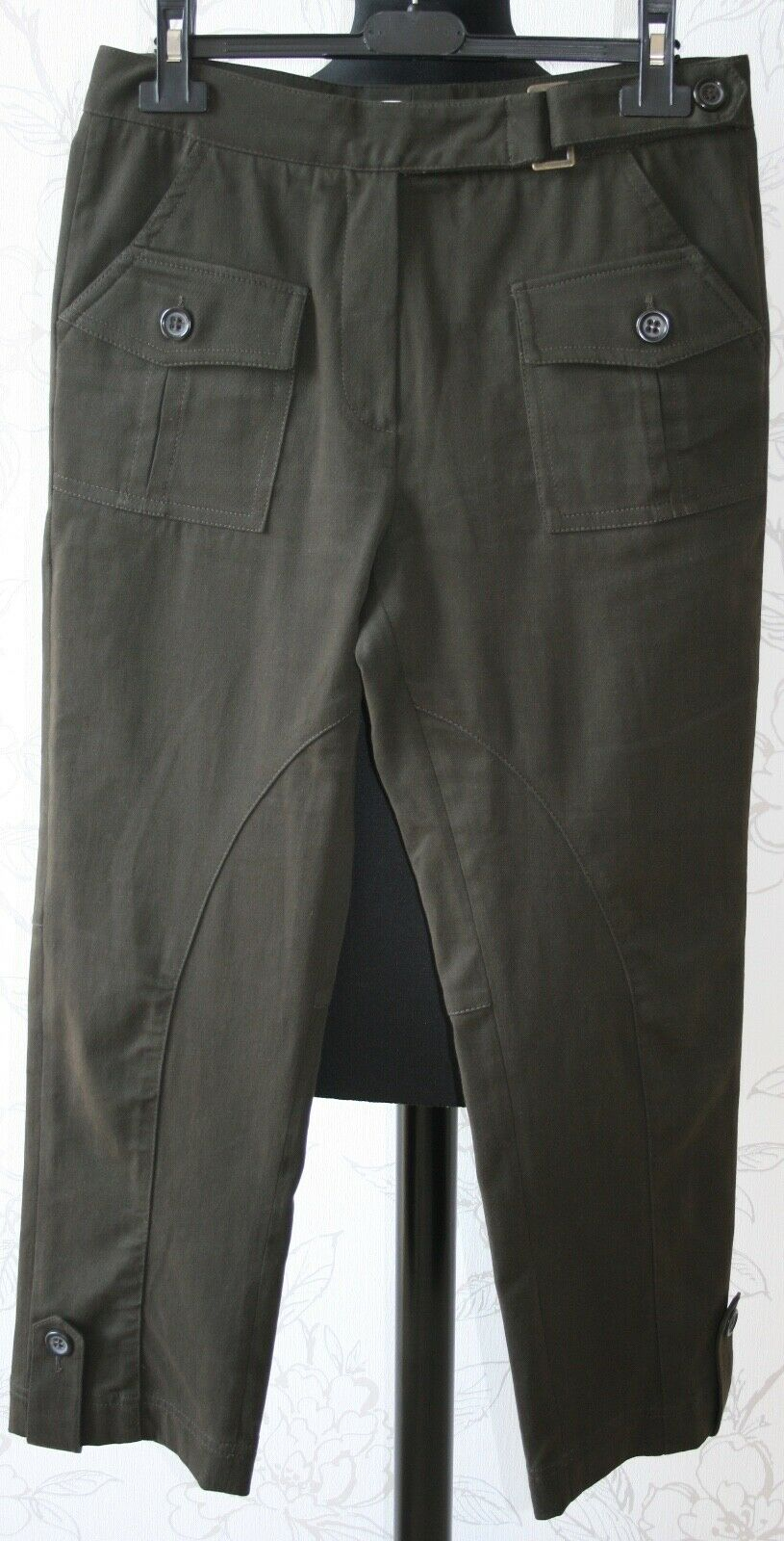 GERARD DAREL UK10 FR38  L26  Ankle Length Cotton Safari Chocolate braun Trousers