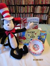 2003 Universal Studios Play Along CAT IN THE HAT ,dictionary,2 puzzles ,bowl