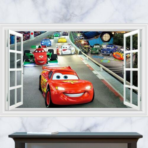2017 Huge 3D Cars McQueen removable Wall Stickers Decal Kids Home Decor USA