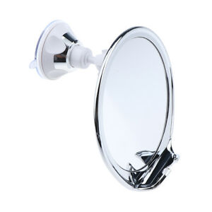 Anti-Fog-Shower-Cosmetic-Shaving-Suction-Mirror-w-Razor-Hook-360-Rotates