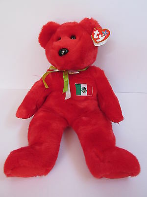 TY OSITO the MEXICAN FLAG BEAR BEANIE BABY MINT with MINT TAGS