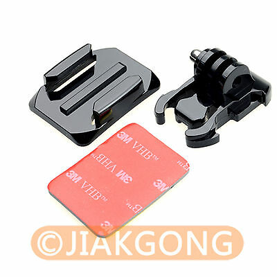 Helmet Curved Surface+Mount Black+3M VHB Sticker for GoPro HD Hero 3 2 ST-13