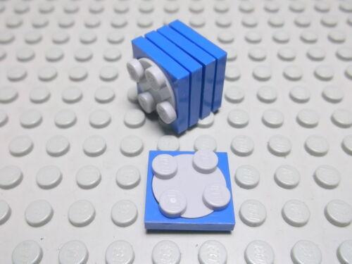 Lego 5 Drehscheiben 2x2 blau komplett  3680c01 Set 6453 926 9736 6895