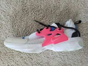 Nike-Big-Girls-Youth-Size-3Y-Lace-up-Athletic-Running-Shoes-Sneakers-White-Pink