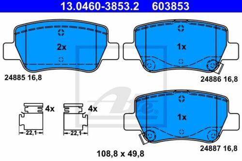 ATE Bremsbelagsatz Scheibenbremse 13.0460-3853.2 für TOYOTA AVENSIS hinten