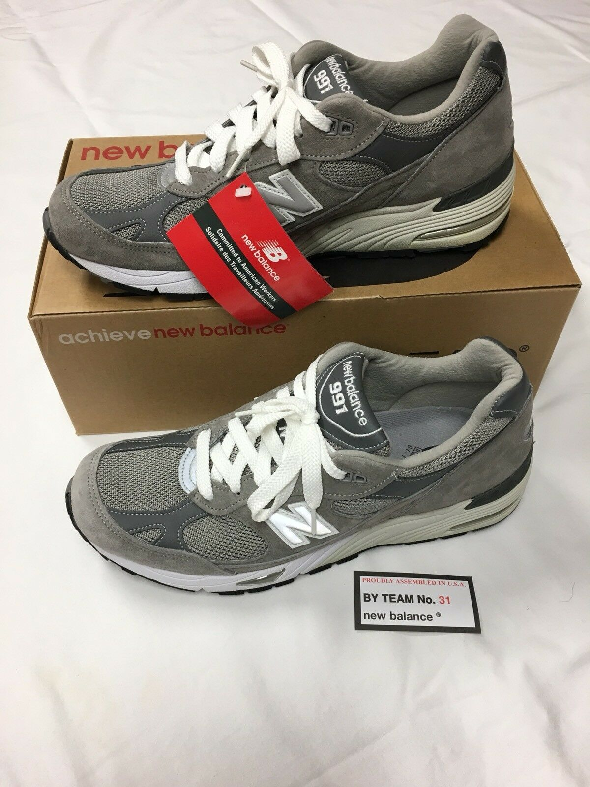 ✦✦✦ Vintage Rare New Balance 991 Mens Size 10.5 D Gray Running Shoes M991GL USA