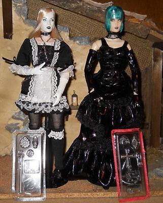 Kitbashed BBI Dark Desires GOTH GIrl ANGEL Blond Maid Loose 1//6 Scale