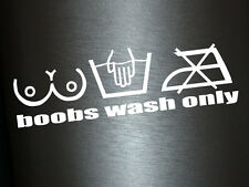 1 x 2 Plott Aufkleber Boobs Wash Only Turbo Tuning Sticker Autoaufkleber Fun Gag