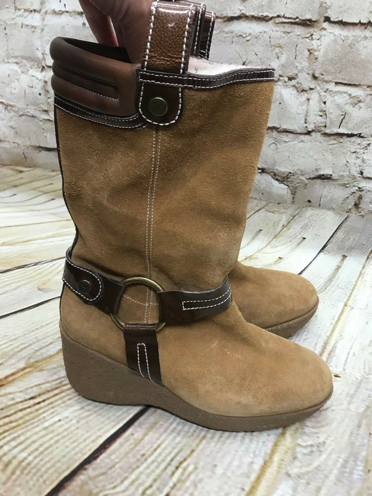 Cole Haan Mid-Calf  braun Suede Sherpa Shearling Shearling Shearling Super Warm Stiefel 7B    EUC 53f9ca