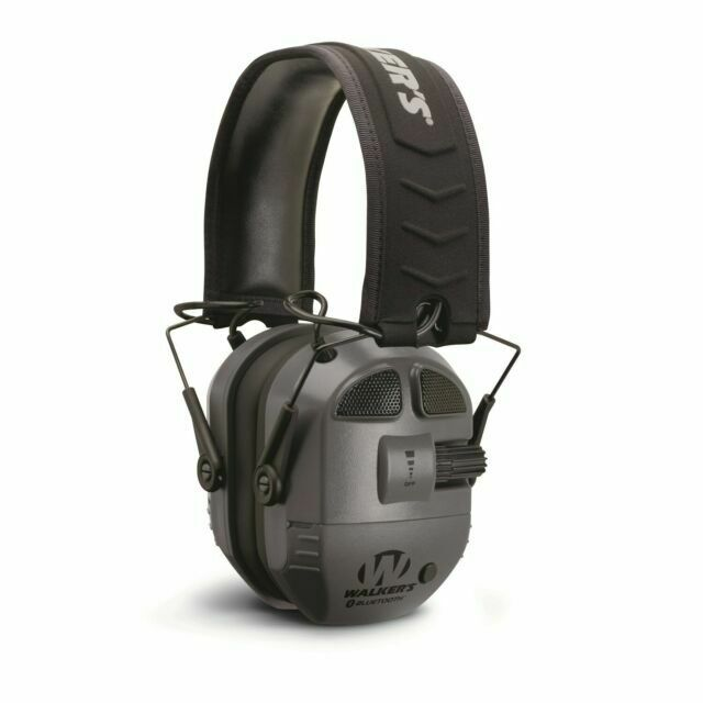 Walkers GWP-RSEQM-BT Razor Slim Electronic Bluetooth Black Gun Shooting Earmuffs