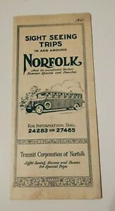 Vintage Travel Brochure 1921 Norfolk Virginia Sight Seeing Trips Advertising