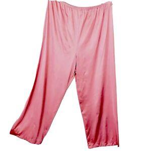 Vanity-Fair-XL-Pants-All-Nylon-Bubble-Gum-Pink-Long-Silky-Vintage-Blue-Label-New