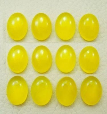 Details about  /Great Lot Natural Yellow Chalcedony 10x10 mm Square Cabochon Loose Gemstone