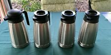 Newco Stainless Steel Lined 16l Vaculator Server Coffee Carafe Lot Of 4