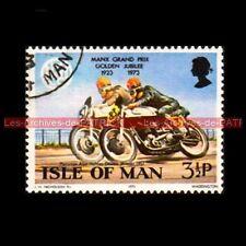 HOLMES Alan NORTON 500 MANX GRAND PRIX Isle of MAN 1957 Timbre Poste Moto Stamp