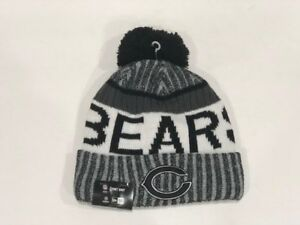 a6bfbad29 Chicago Bears Beanie Cap Hat Nfl Football New Era Cuffed Knit On ...