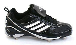 13743ec7805f Adidas Diamond King 9 Black   White Metal Low Baseball Softball ...