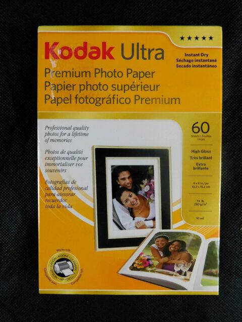 "Kodak Ultra Premium Photo Paper 60 Sheets 4"" x 6"" Sealed Free Shipping HighGloss"