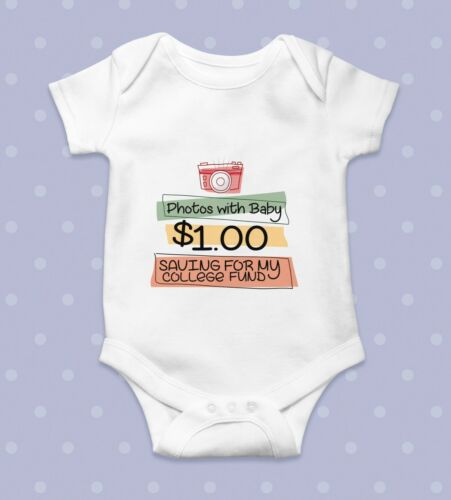 Photo with baby $1 Baby BodysuitBaby Shower GiftCute Baby ClothesFunny