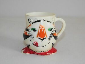 """VINTAGE KITCHEN 1964 KELLOGG CO 3 1/2"""" HIGH TONY THE TIGER PLASTIC CUP"""