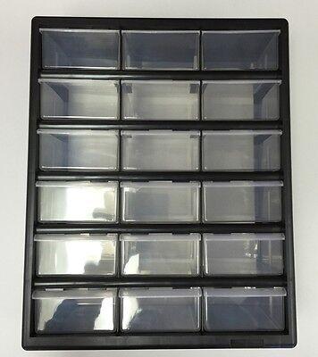 Organiser / Storage Rack 18 Drawers Plastic #OM18D Tidy Practical Home Business