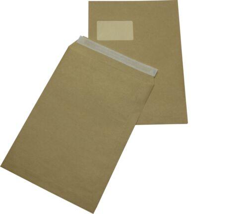 500 St HK braun mit Fenster Briefumschläge DIN A4 C4 extra stark 120 gr