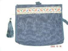 black hand made satin silk jewelry organizer makeup bag