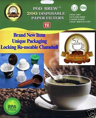Pod-Brew ® 200 Count Paper Filter Kit for use with Keurig™ Single Cup Brewers