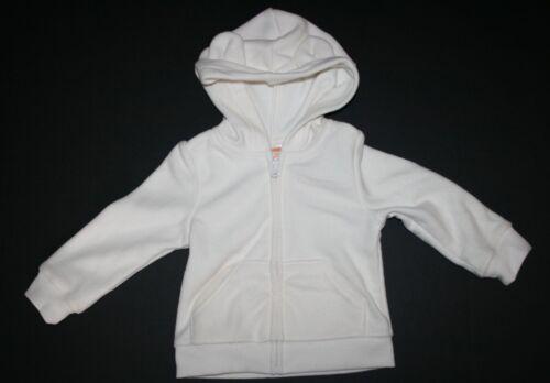New Gymboree Girls Ivory Animal Ears Hoodie NWT 12-24m Fleece Jacket