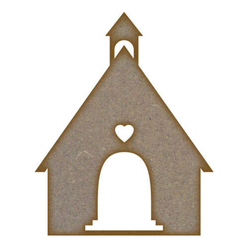 Church Design 2 MDF Laser Cut Craft Blanks in Various Sizes